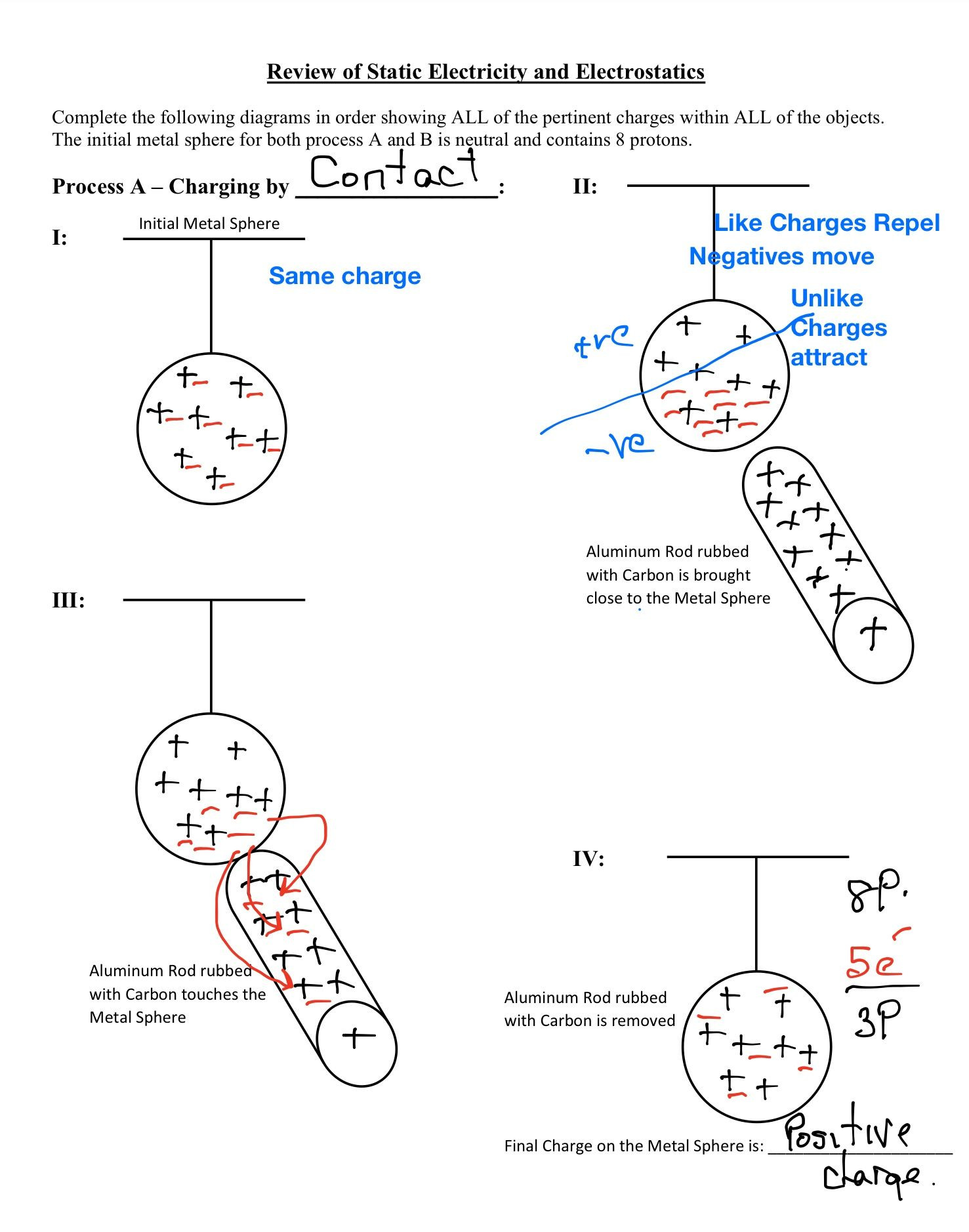 Charge And Electricity Worksheet Answers Education Template