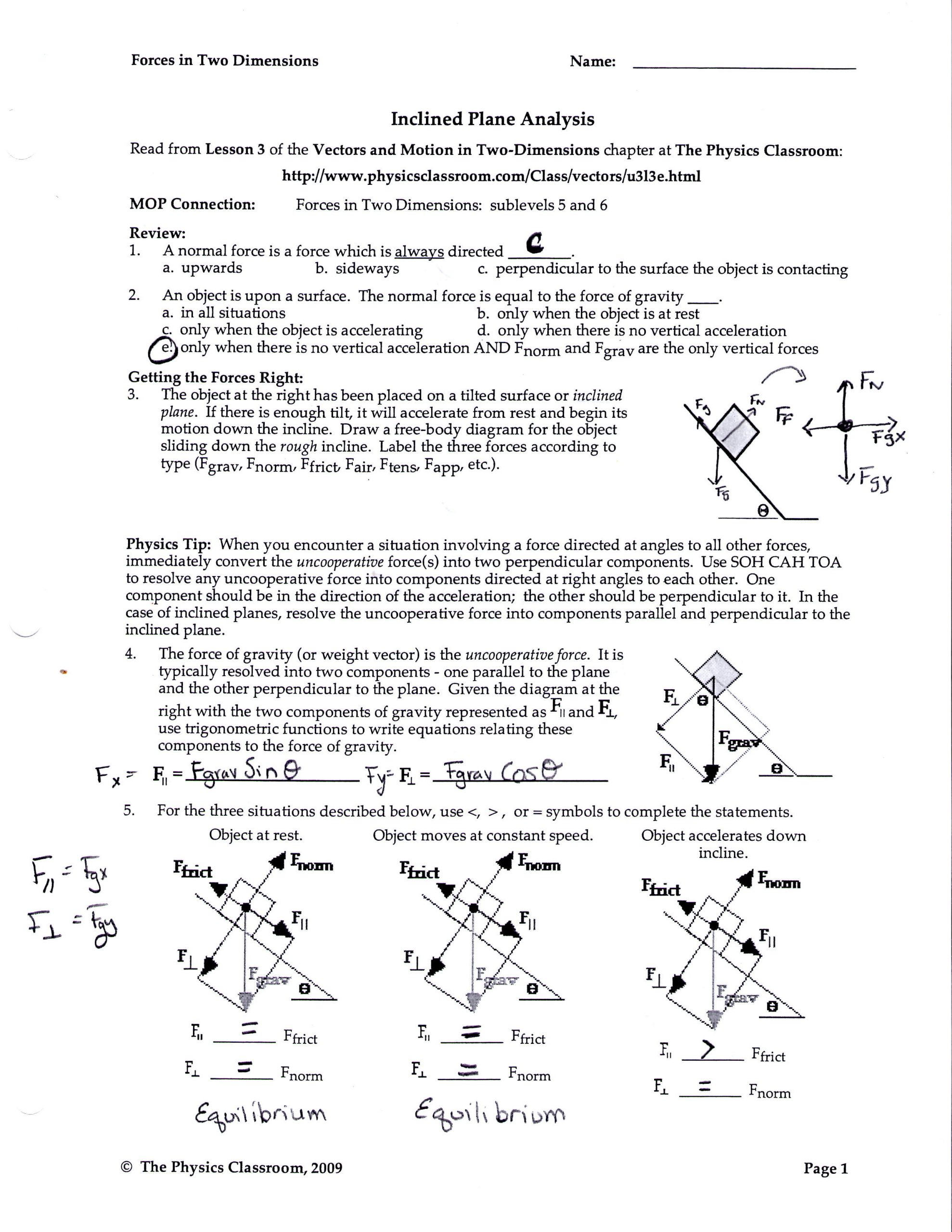 30 Coefficient Of Friction Worksheet Answers