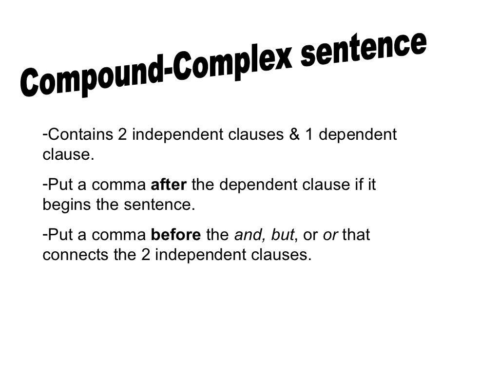 30 Compound Complex Sentences Worksheet
