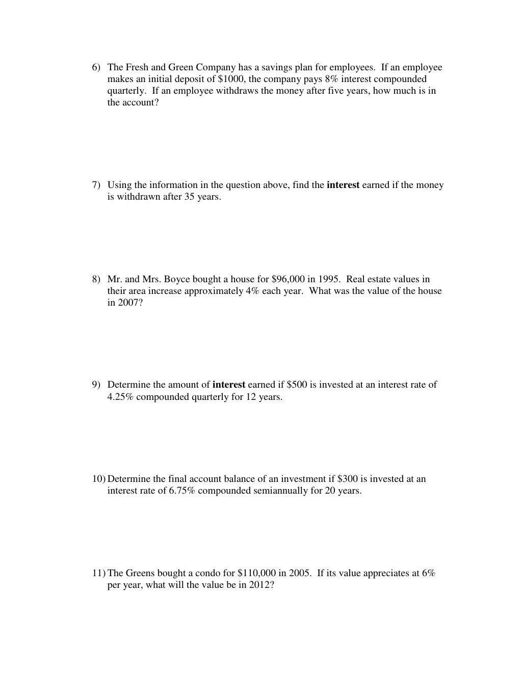 30 Compound Interest Worksheet Answers