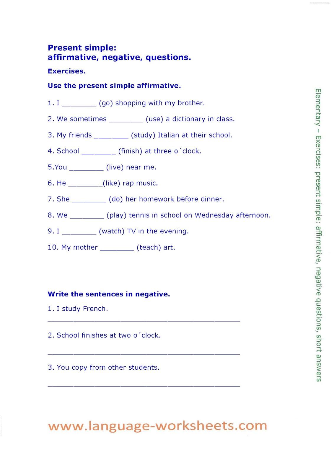 El Verbo Ser Worksheet Answers Education Template