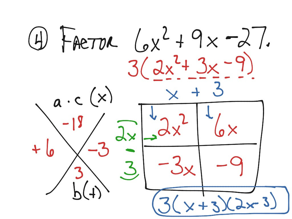 30 Factoring Quadratics Worksheet Answers