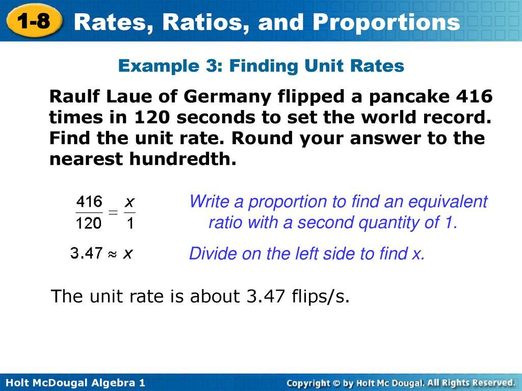 30 Finding Unit Rates Worksheet