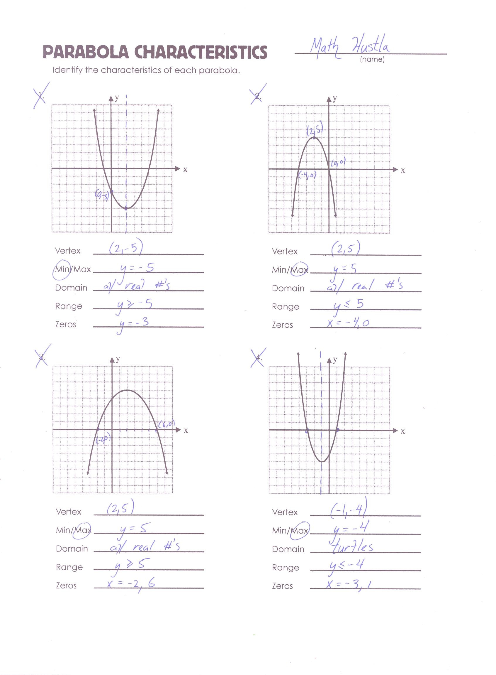 30 Graphing Quadratic Functions Worksheet Answers