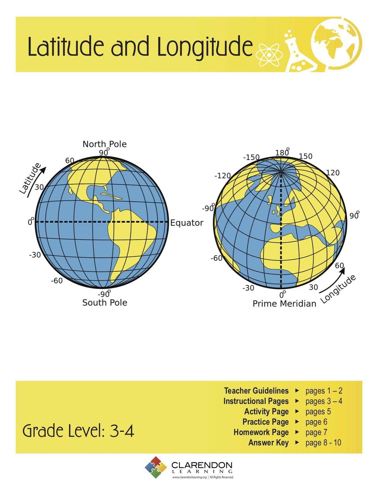 30 Longitude And Latitude Worksheet