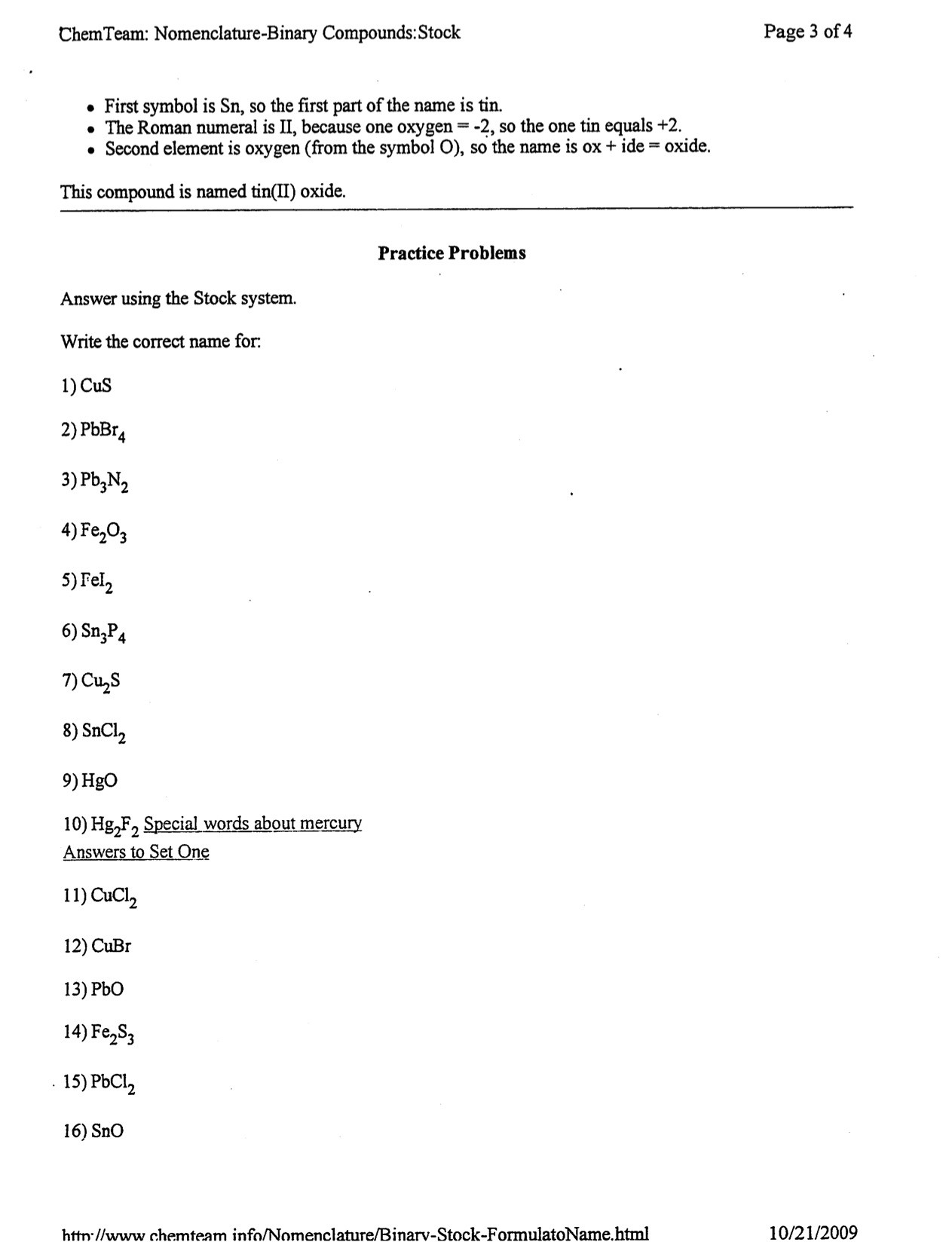 30 Naming Binary Ionic Compounds Worksheet