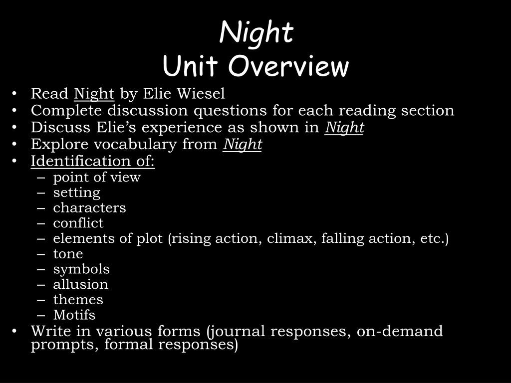 30 Night Elie Wiesel Worksheet Answers