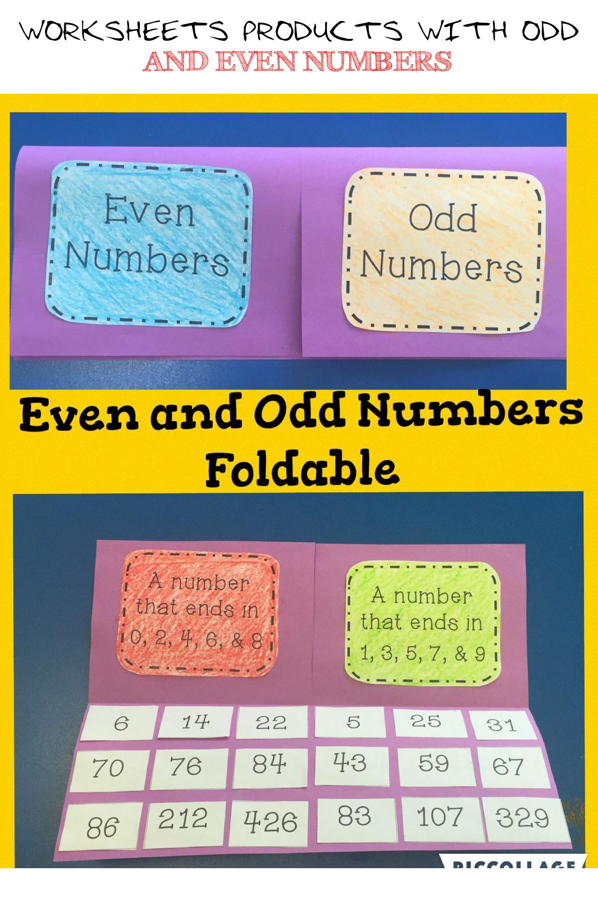 30 Odd And Even Numbers Worksheet