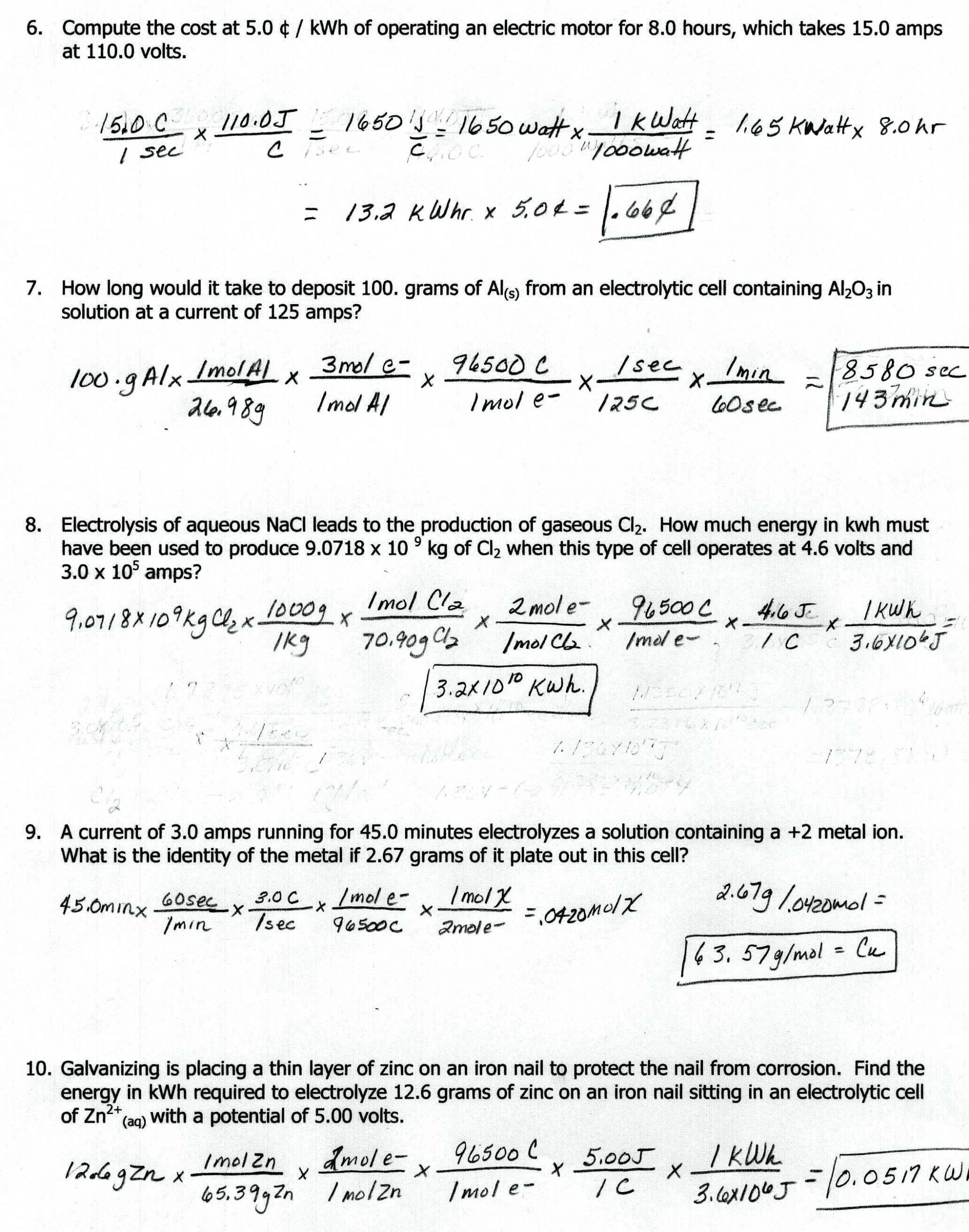 30 Oxidation And Reduction Worksheet