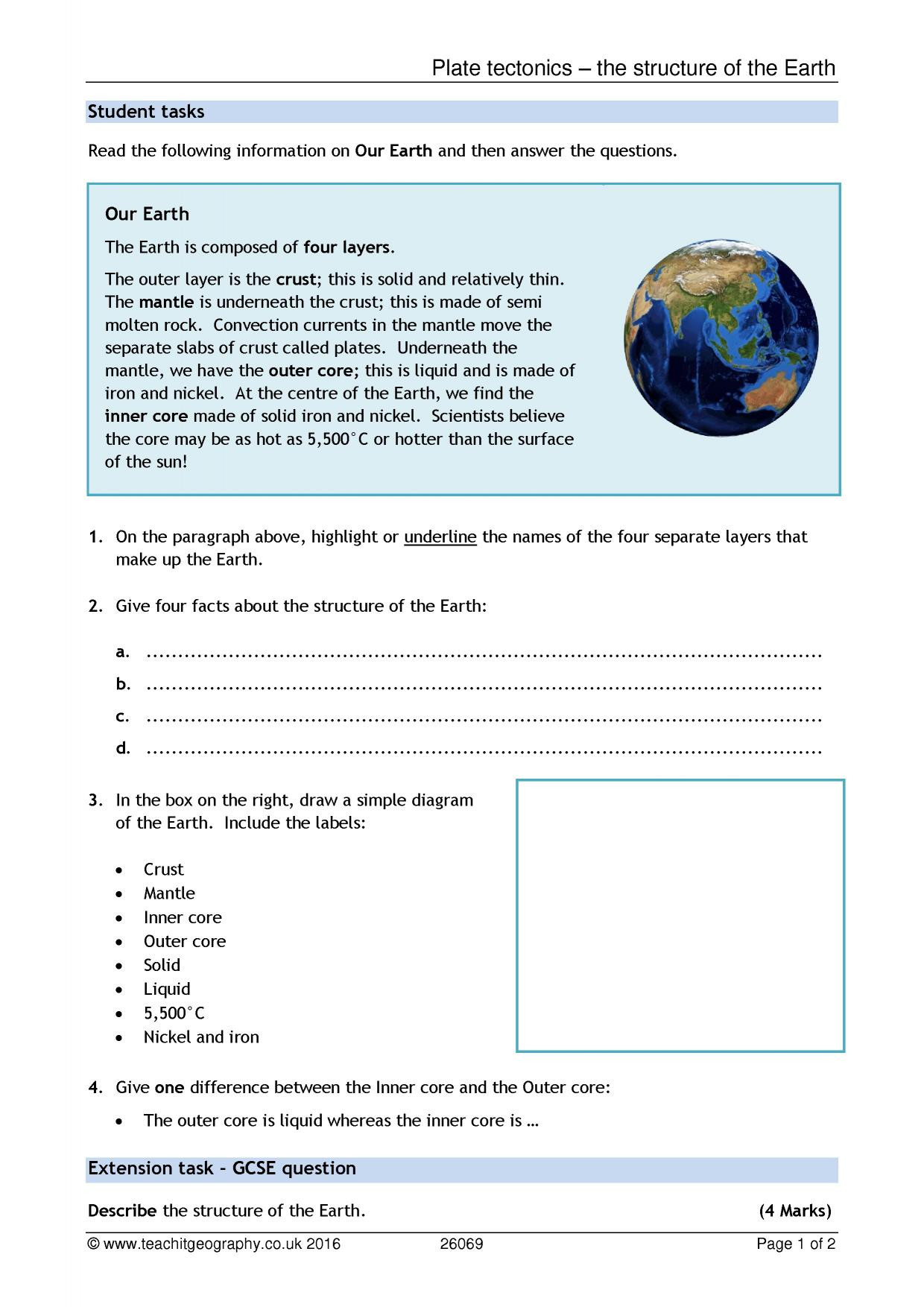 30 Plate Tectonics Worksheet Answer Key