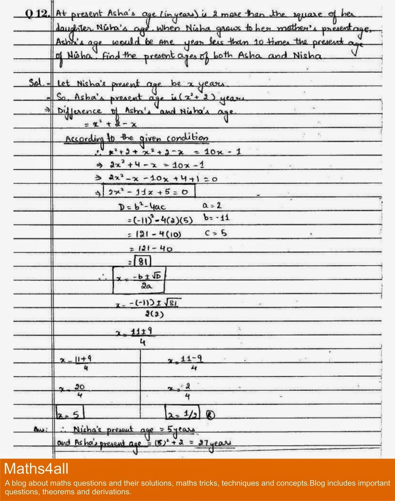 30 Quadratic Equations Word Problems Worksheet