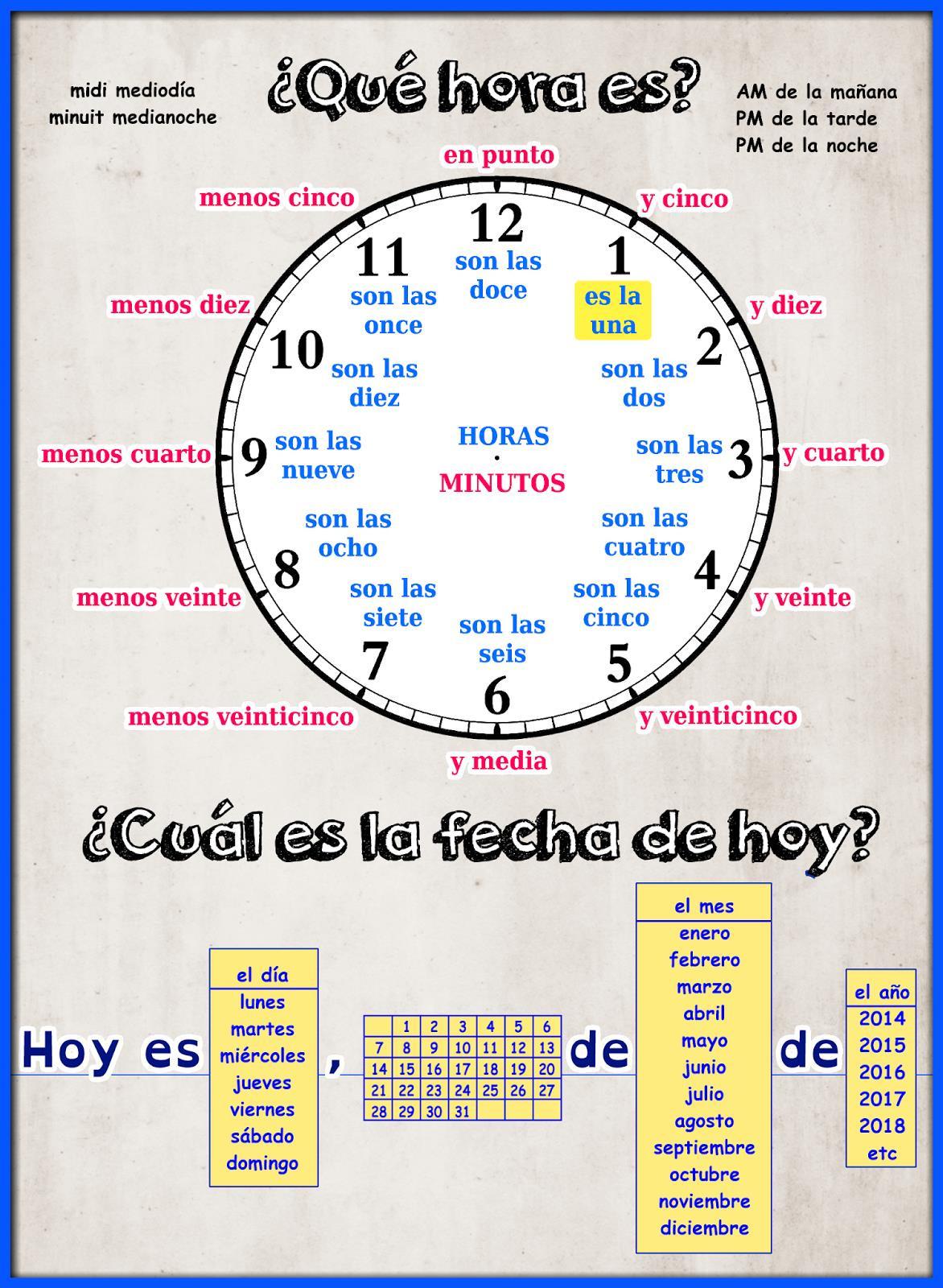 30 Que Hora Es Worksheet