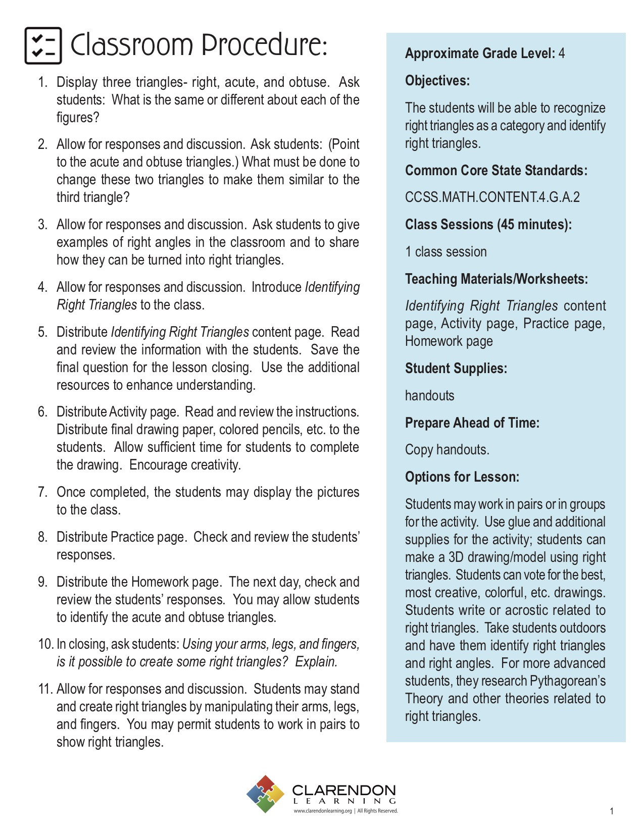 30 Right Triangle Word Problems Worksheet