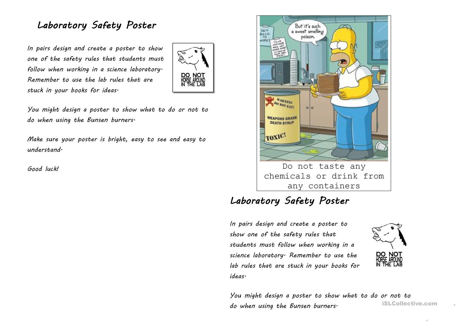 30 Science Lab Safety Worksheet