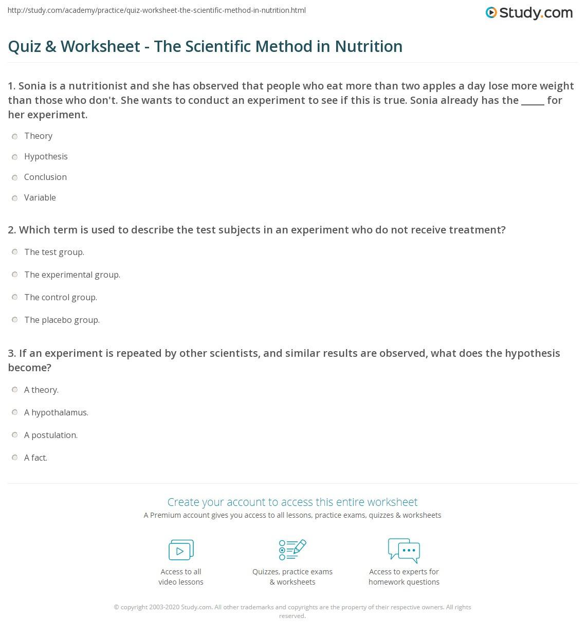 30 Scientific Method Review Worksheet