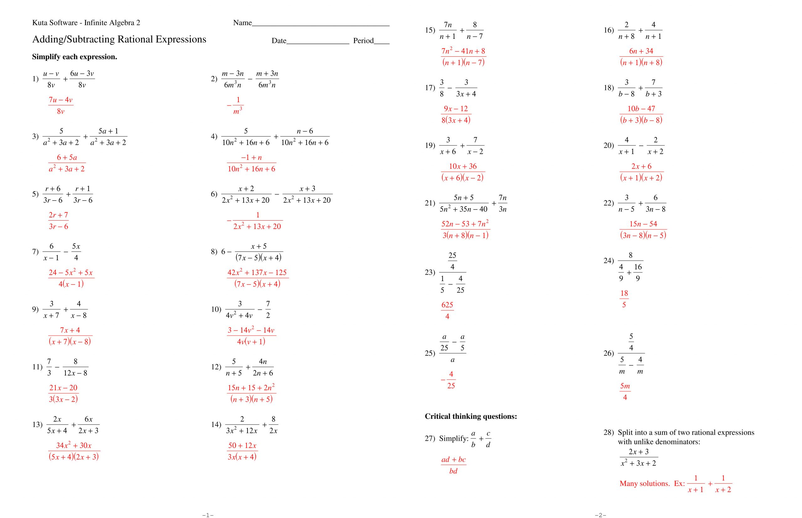 30 Simplifying Radicals Worksheet With Answers