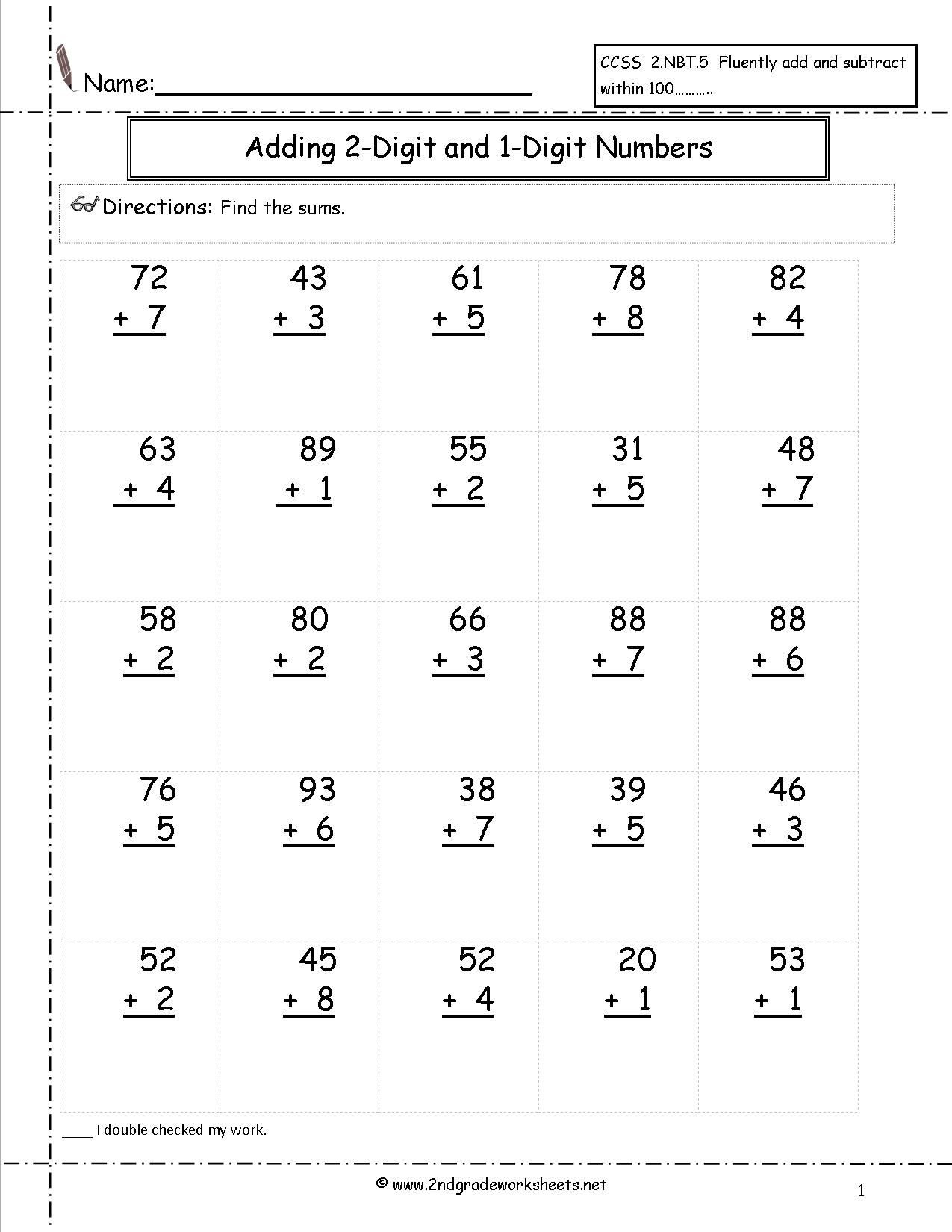30 Touch Math Addition Worksheet