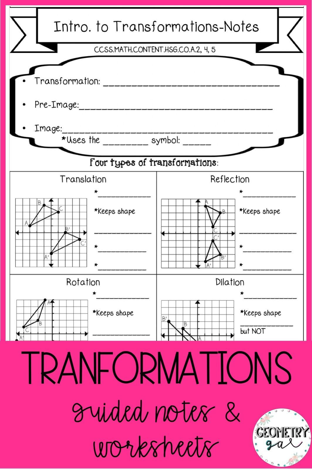 30 Translations Reflections And Rotations Worksheet