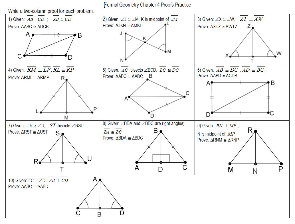 30 Triangle Congruence Proofs Worksheet
