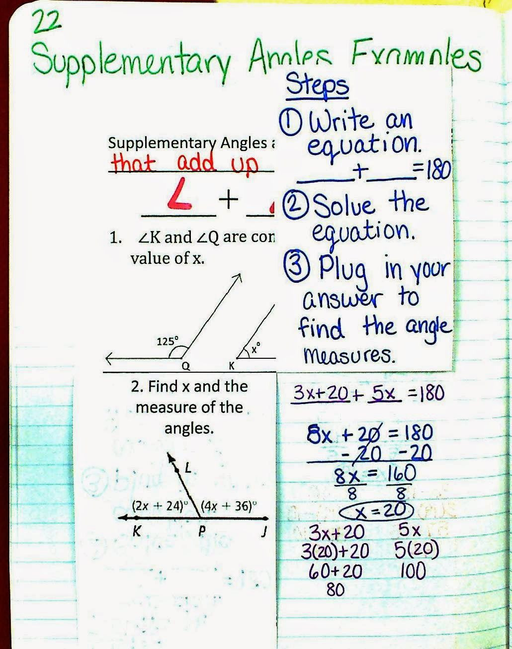 30 Angle Pair Relationships Practice Worksheet