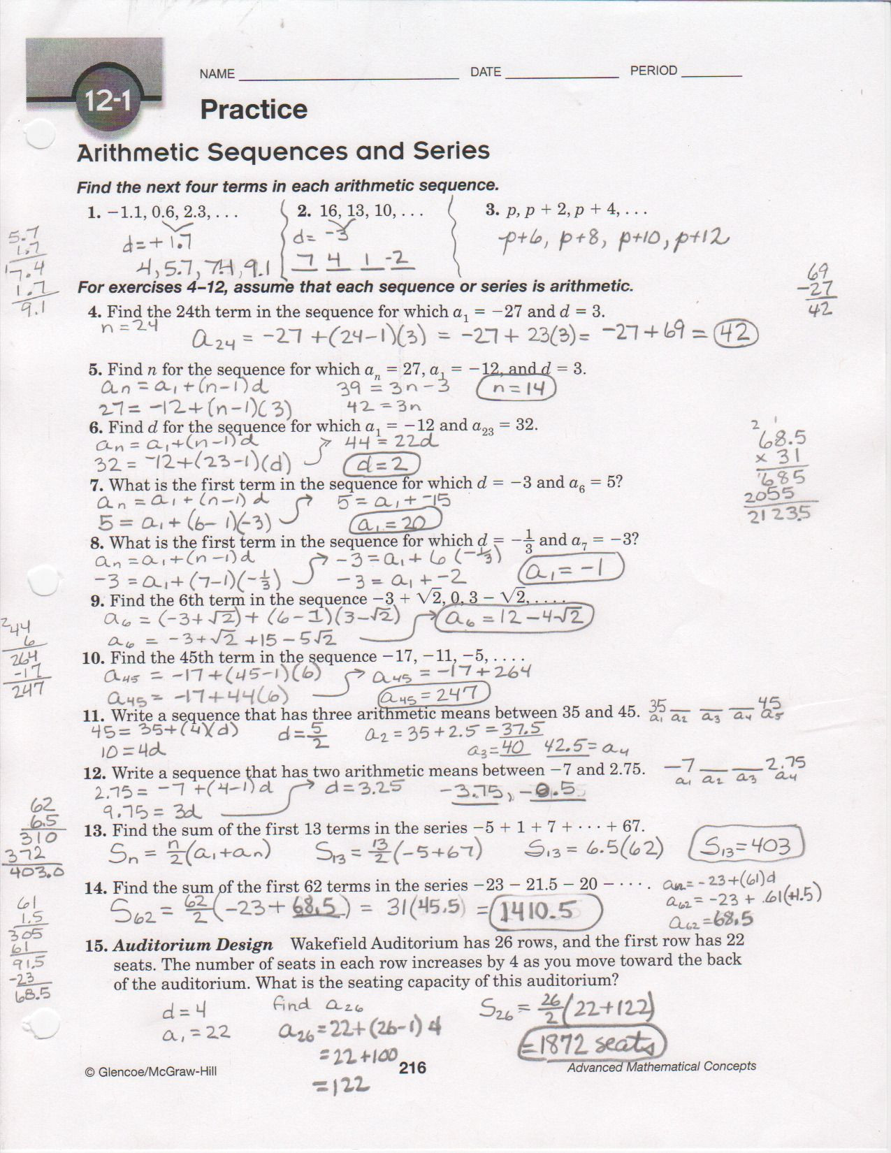 30 Arithmetic Sequences And Series Worksheet