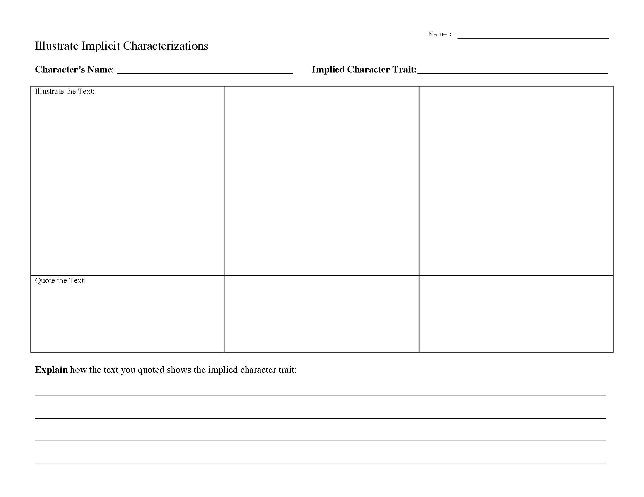 30 Character Traits Worksheet 3rd Grade