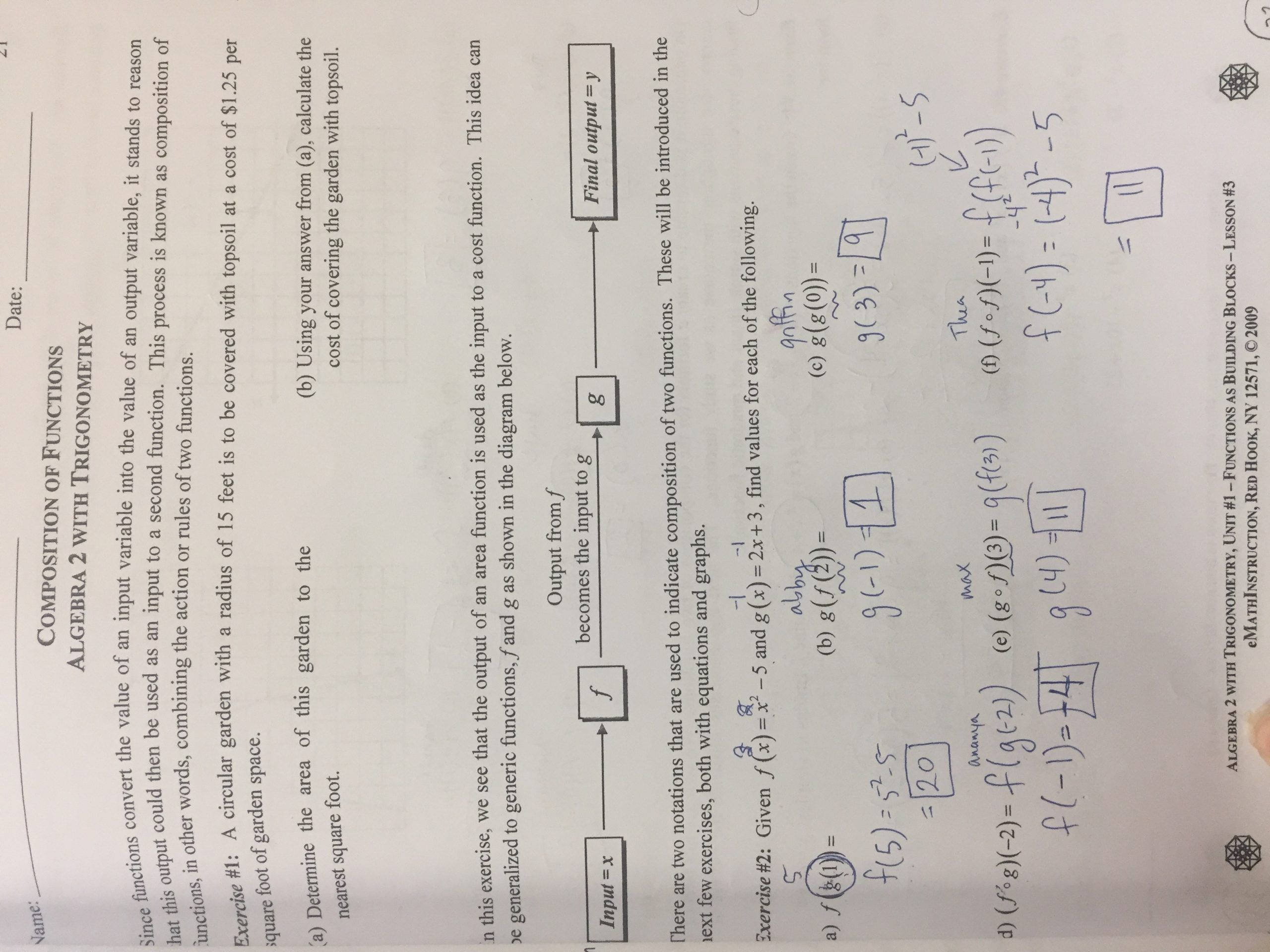 30 Composite Function Worksheet Answers