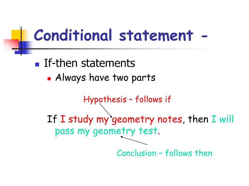 30 Conditional Statement Worksheet Geometry
