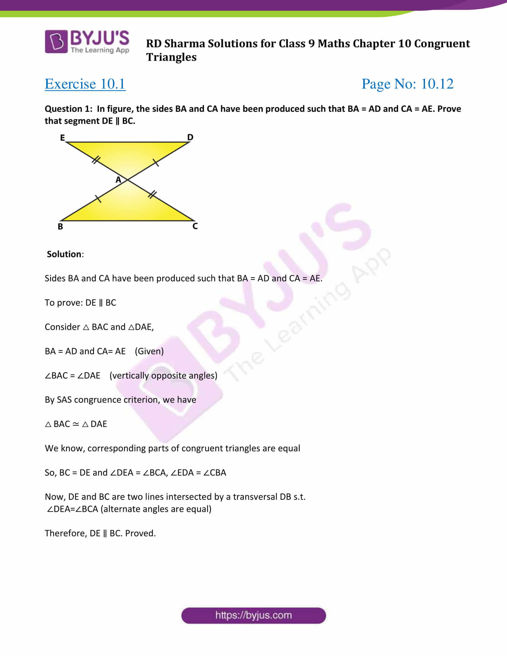 30 Congruent Triangles Worksheet With Answers