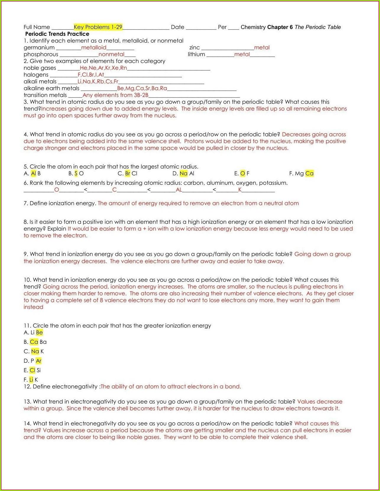 30 Drawing Atoms Worksheet Answer Key