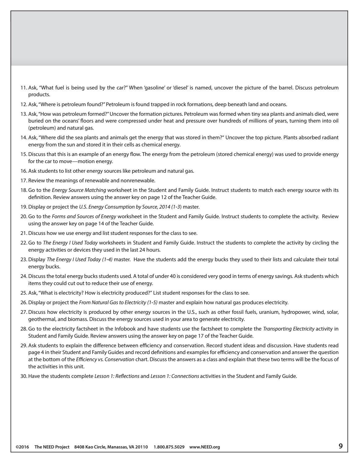 30 Energy Flow Worksheet Answers