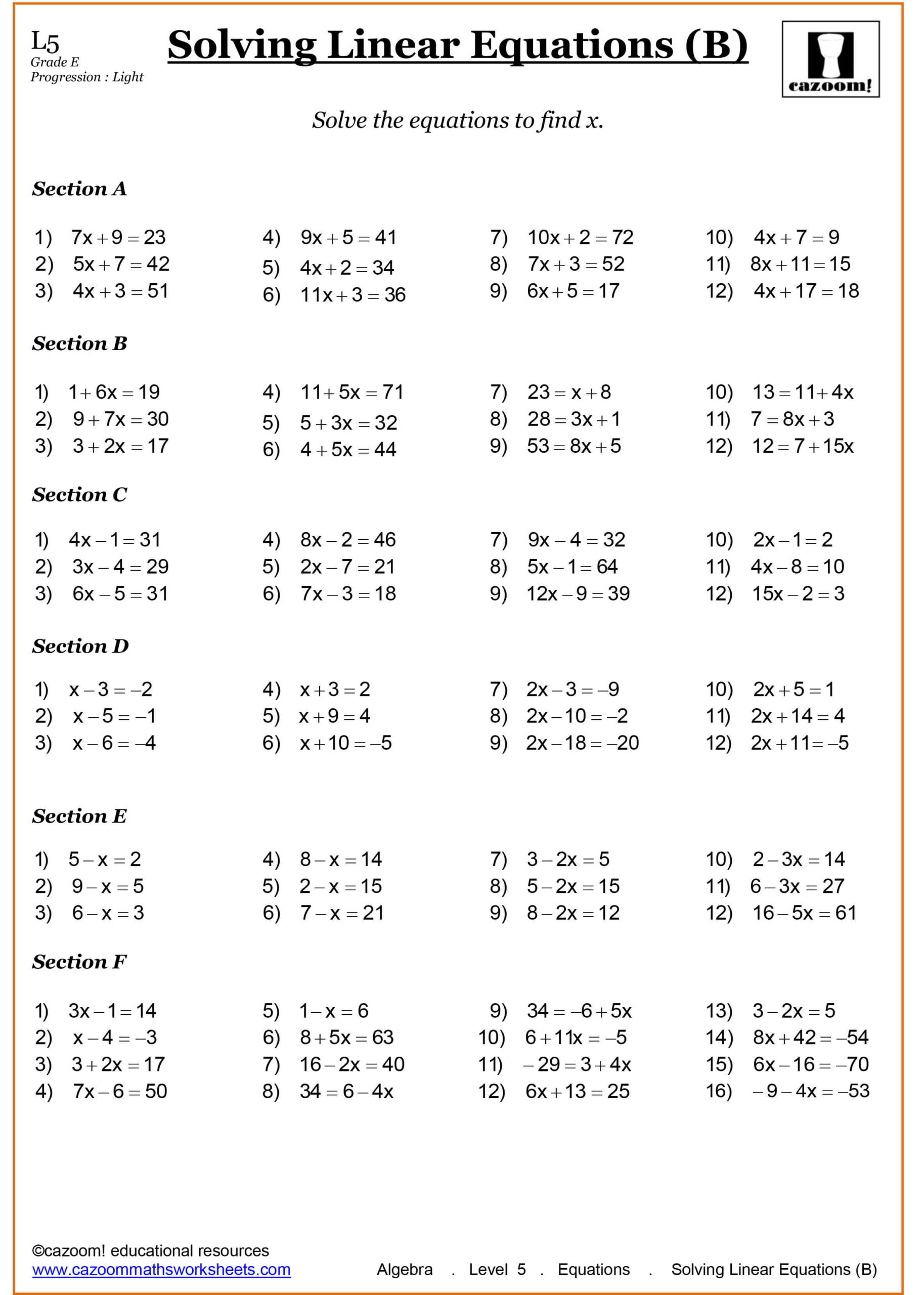 Equivalent Expressions Worksheet 6th Grade