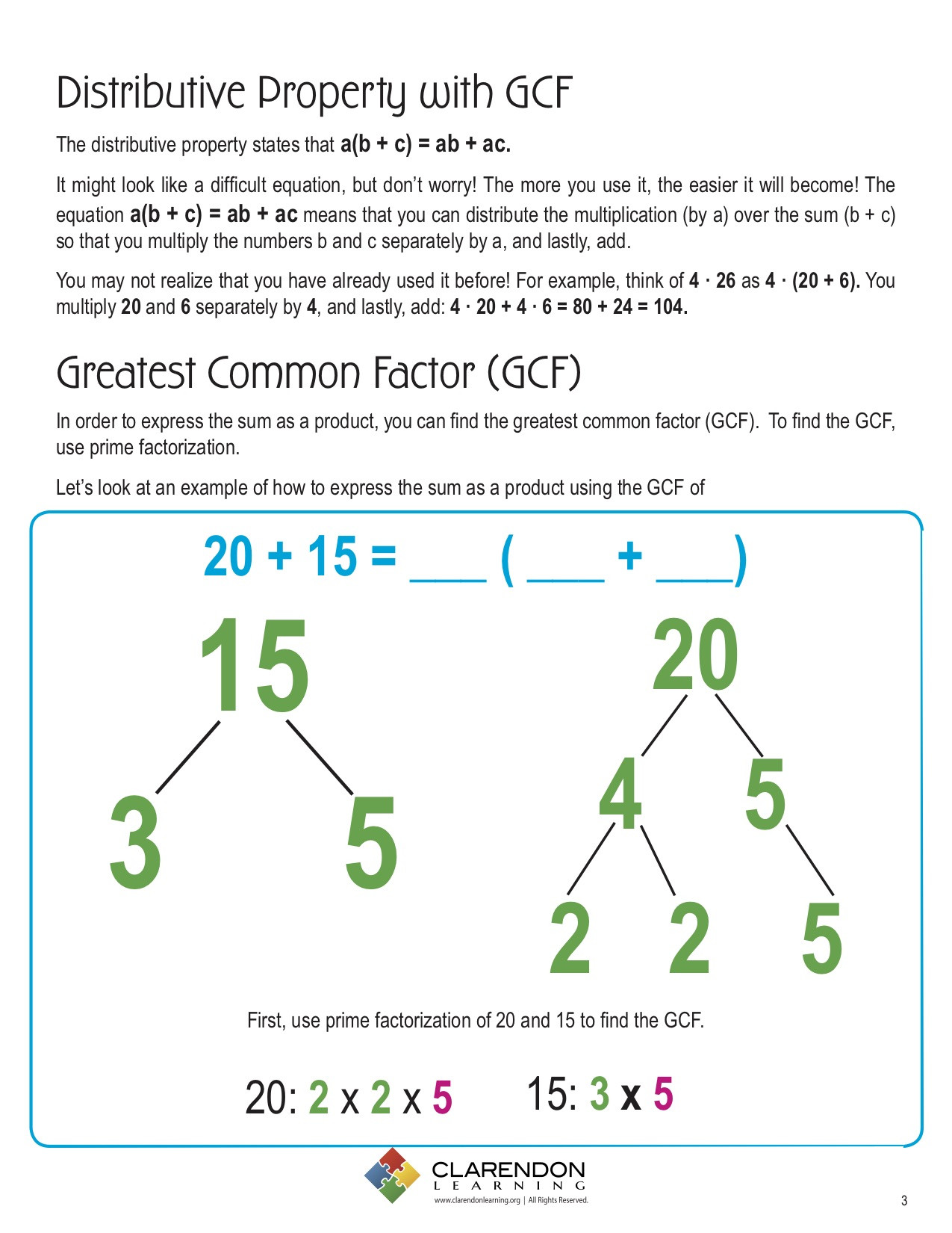 30 Factoring Distributive Property Worksheet