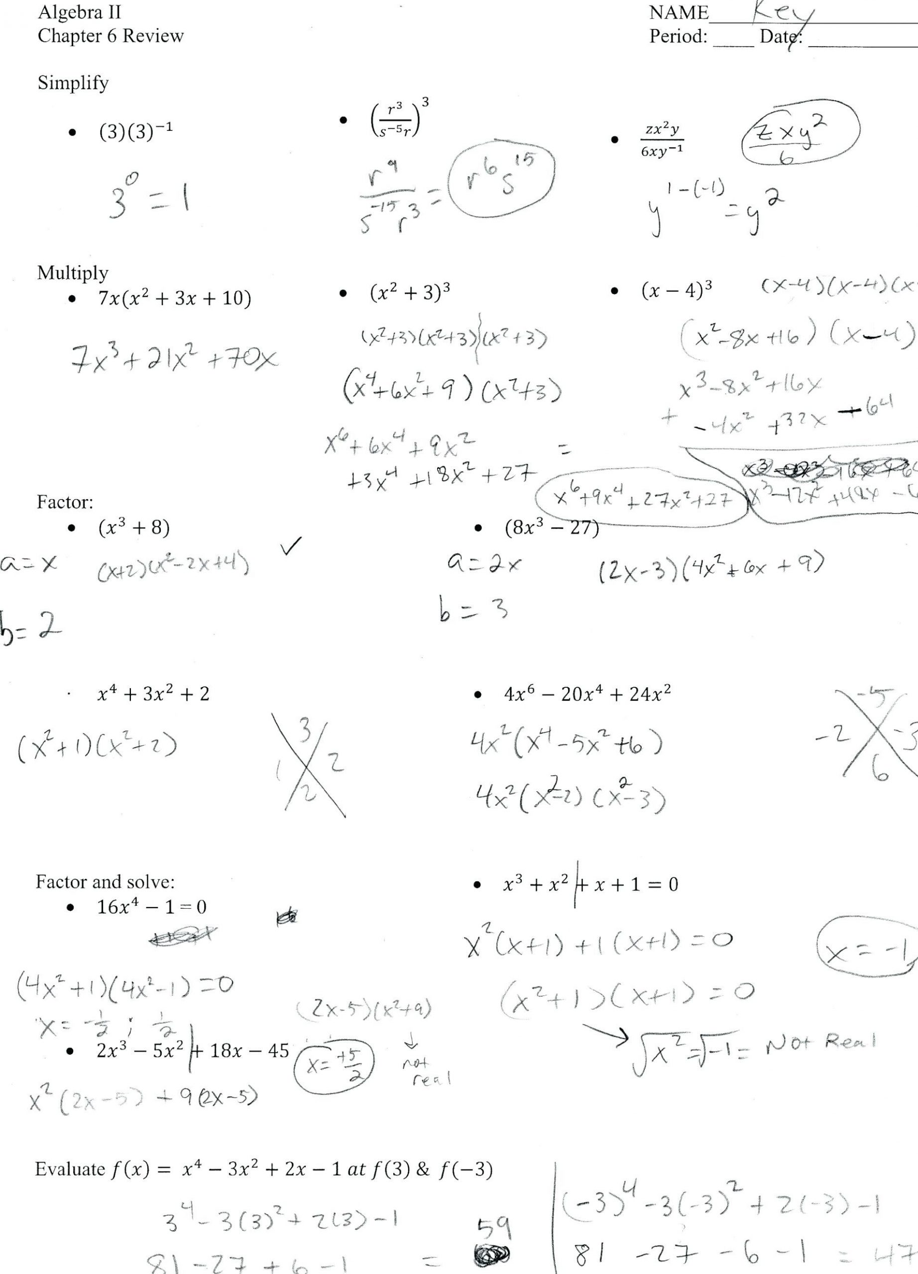 30 Factoring Trinomials Worksheet Algebra 2