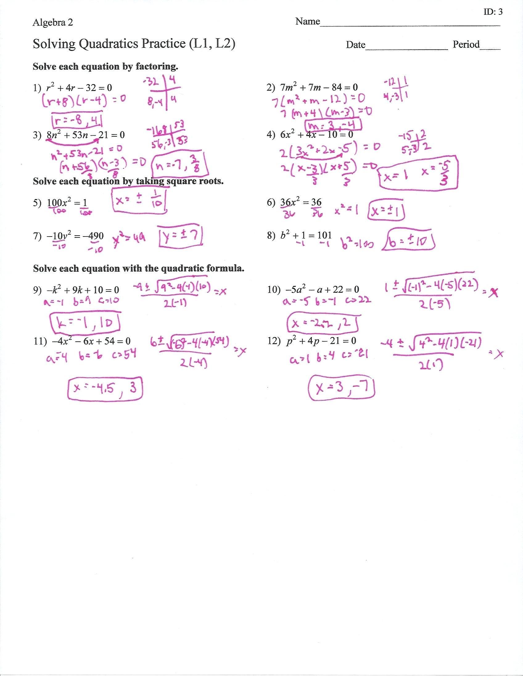 30 Factoring Trinomials Worksheet Answer Key