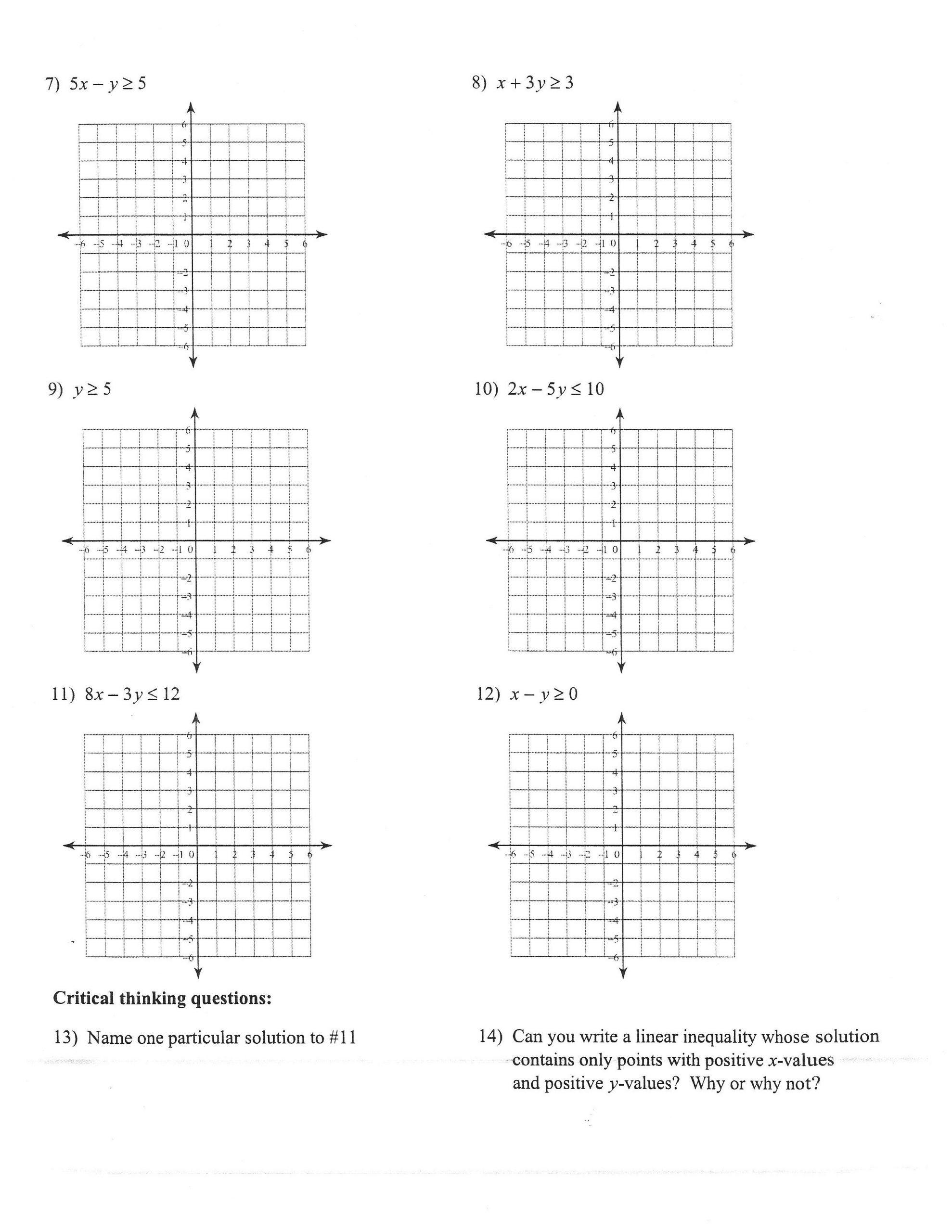 30 Graphing Linear Inequalities Worksheet