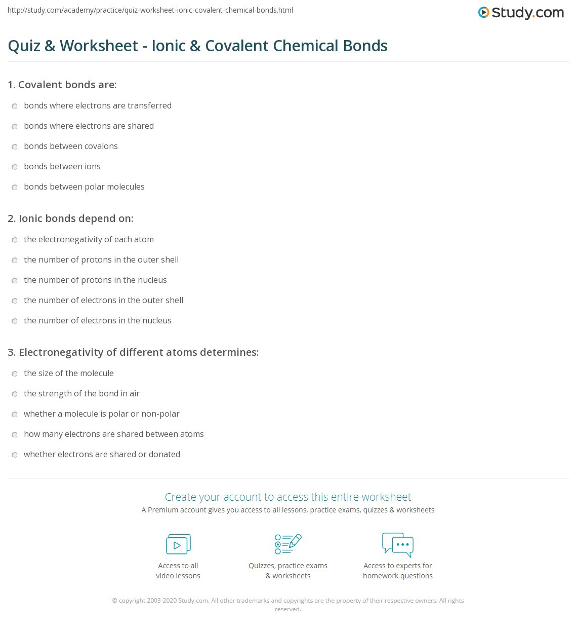 30 Ionic And Covalent Bonds Worksheet