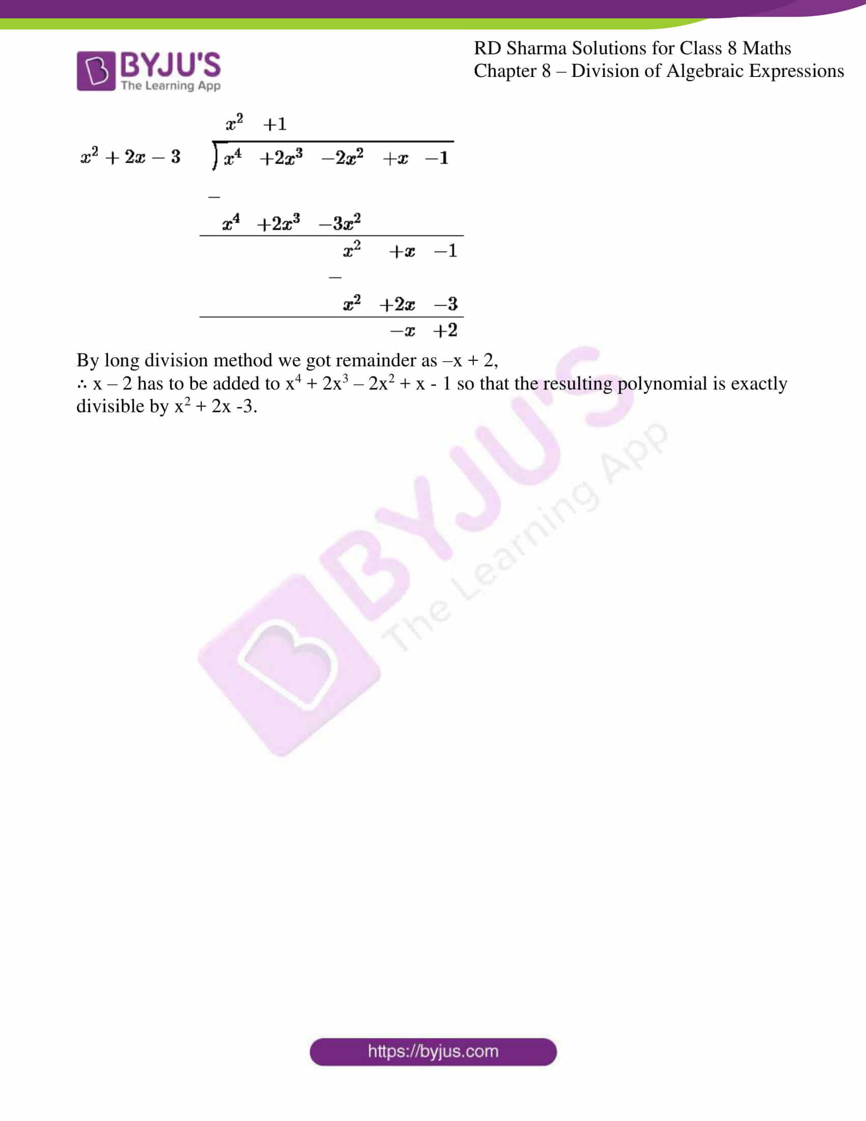 Long Division Polynomials Worksheet