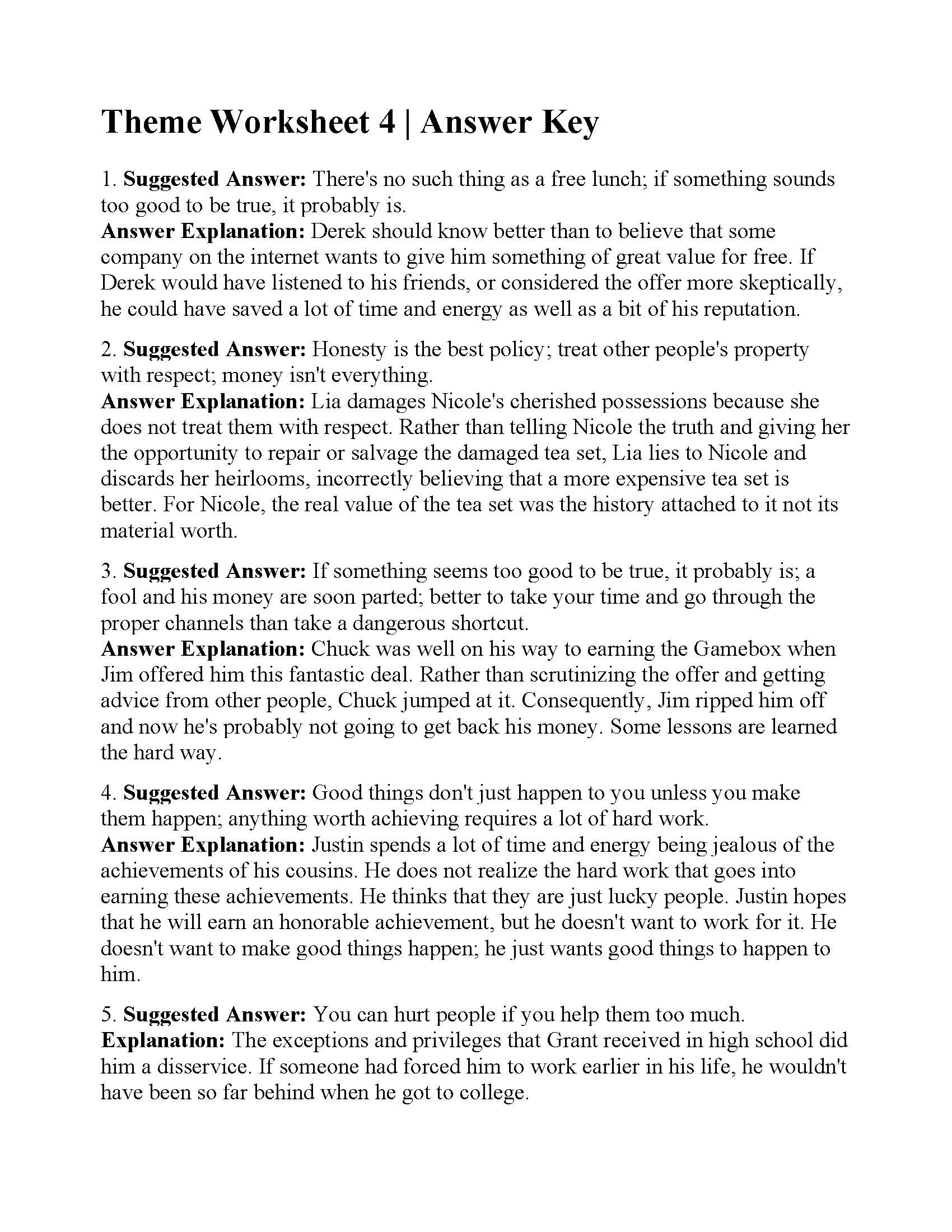 30 Main Idea Worksheet 4th Grade