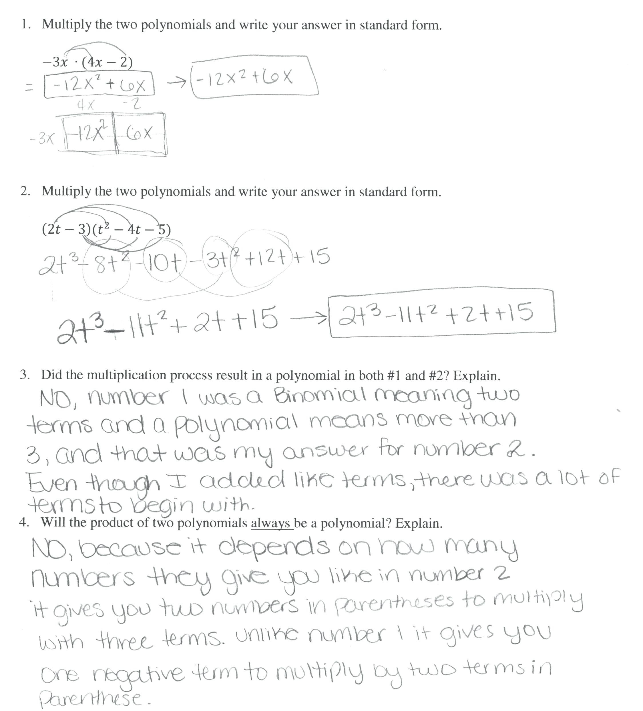 30 Multiplying Monomials Worksheet Answers