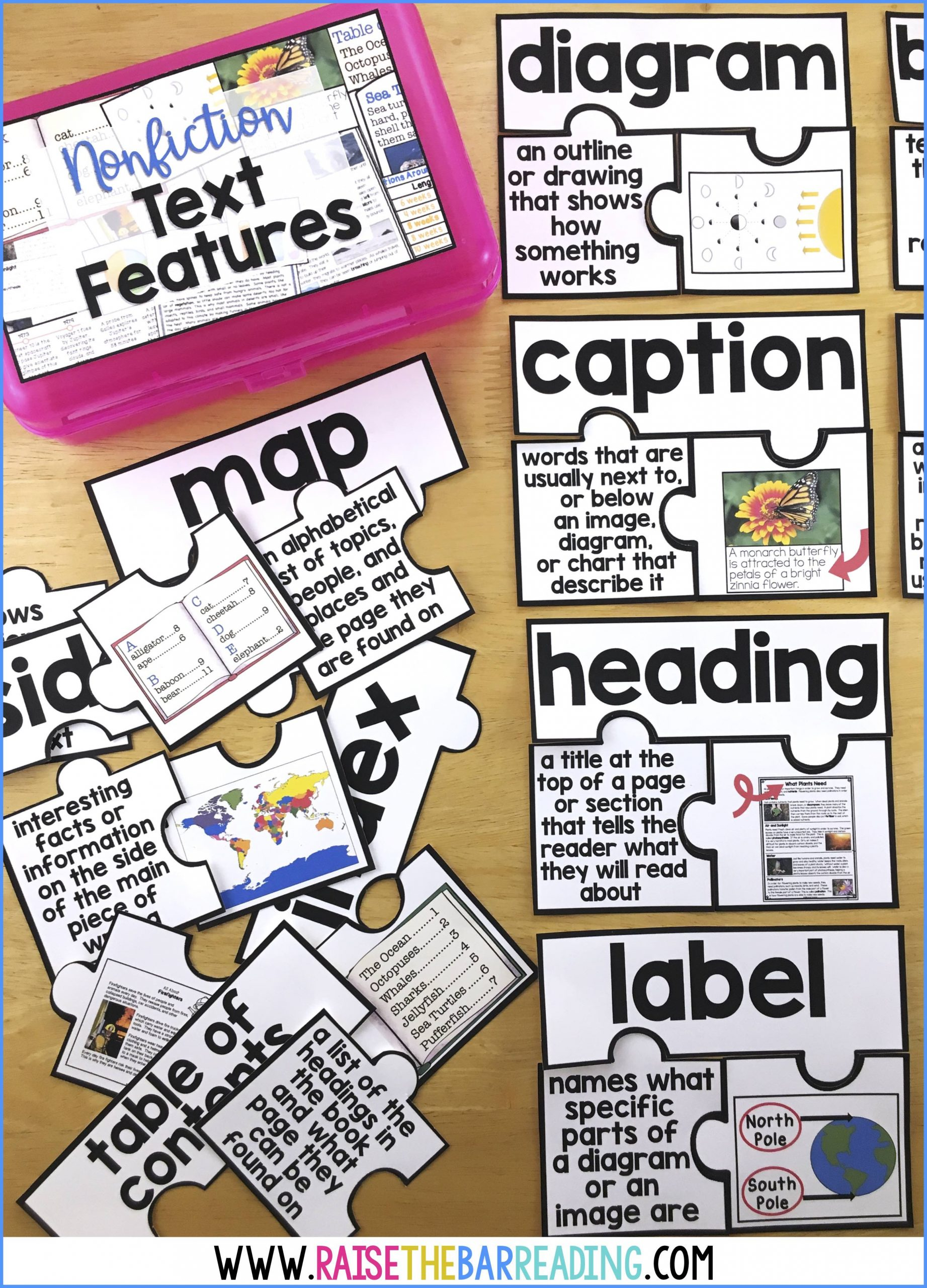 30 Nonfiction Text Features Worksheet