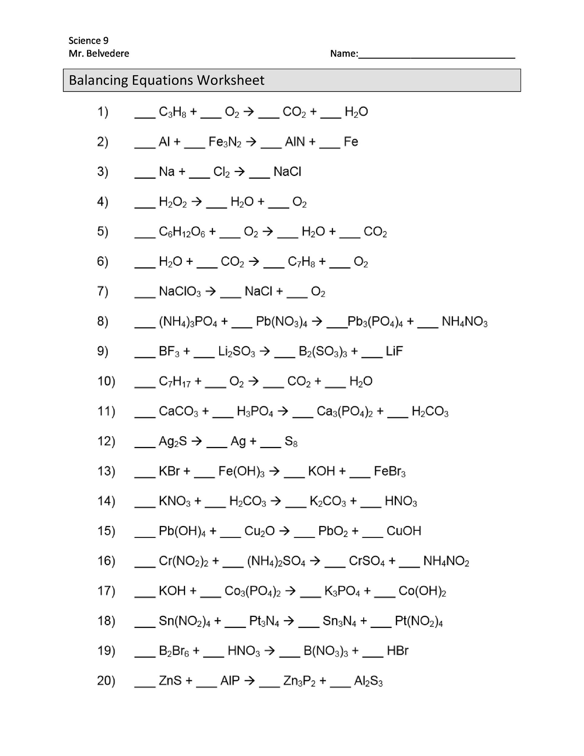 30 Nuclear Equations Worksheet Answers