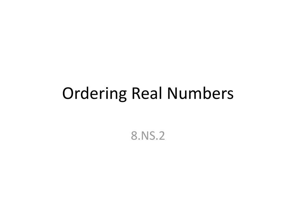 30 Ordering Real Numbers Worksheet
