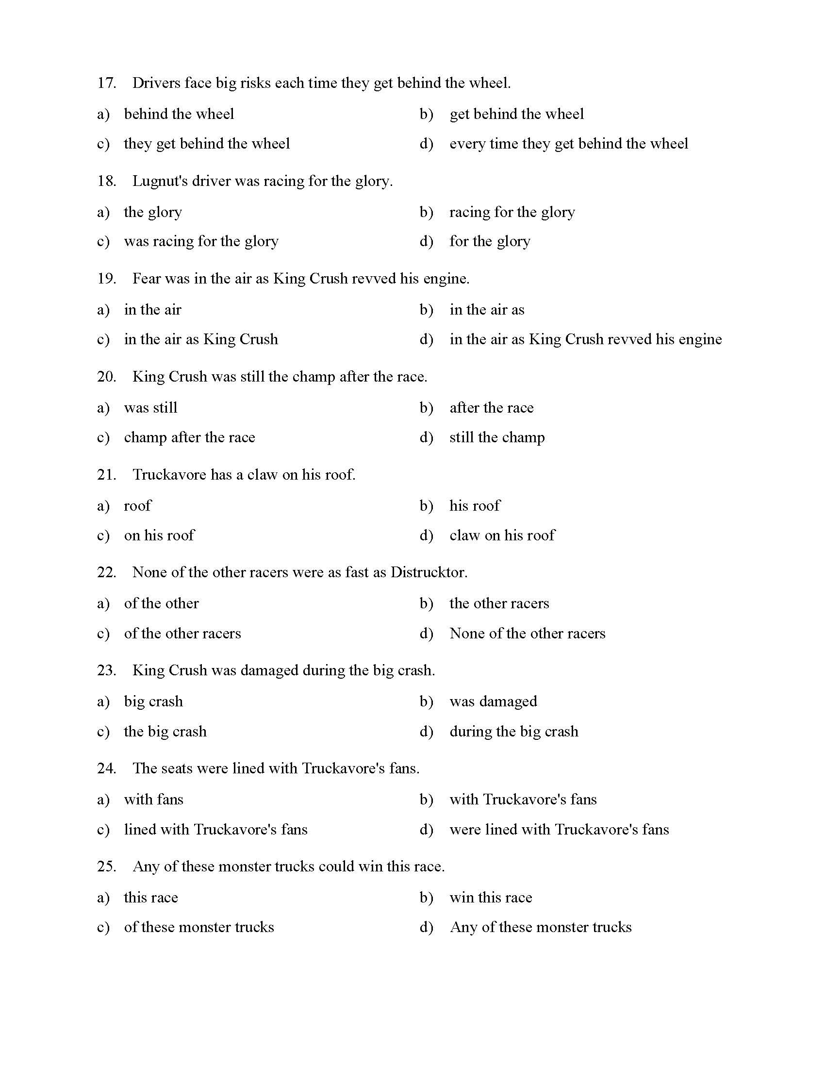 30 Prepositional Phrase Worksheet With Answers