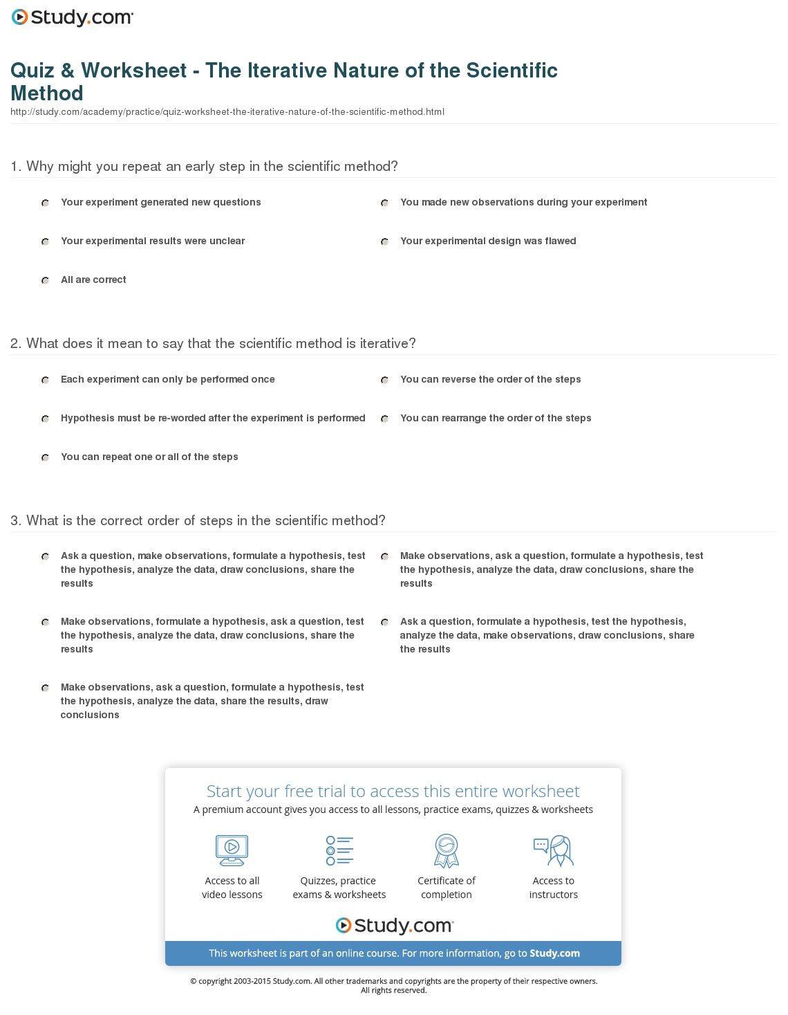 30 Scientific Method Worksheet Answer Key