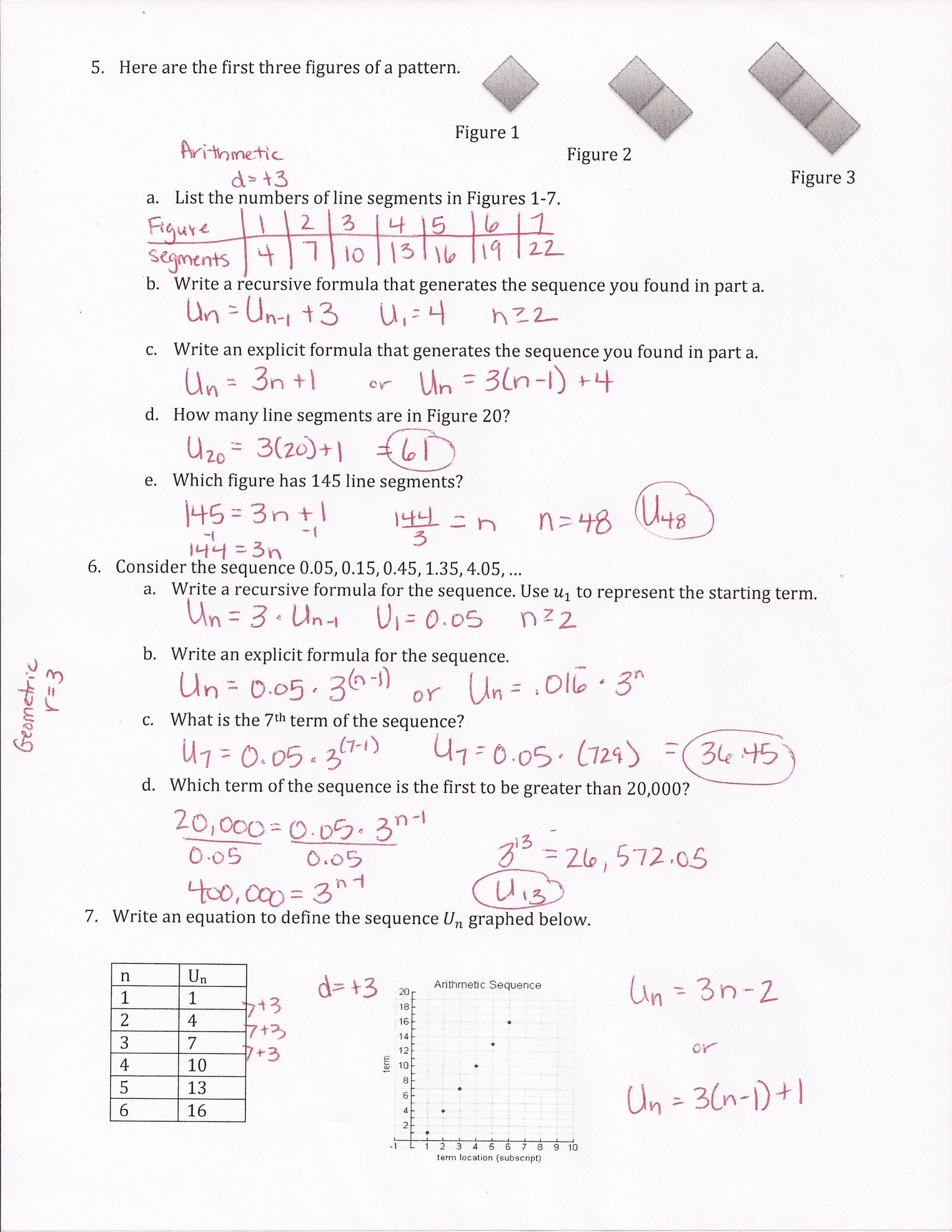 30 Sequences And Series Worksheet Answers