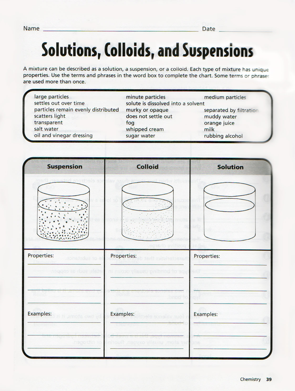 30 Solutions Colloids And Suspensions Worksheet