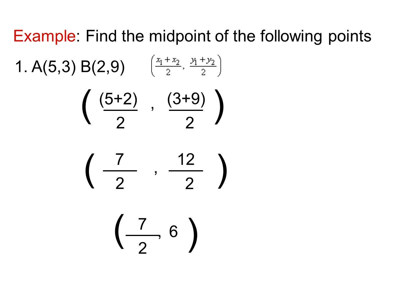 30 The Midpoint Formula Worksheet