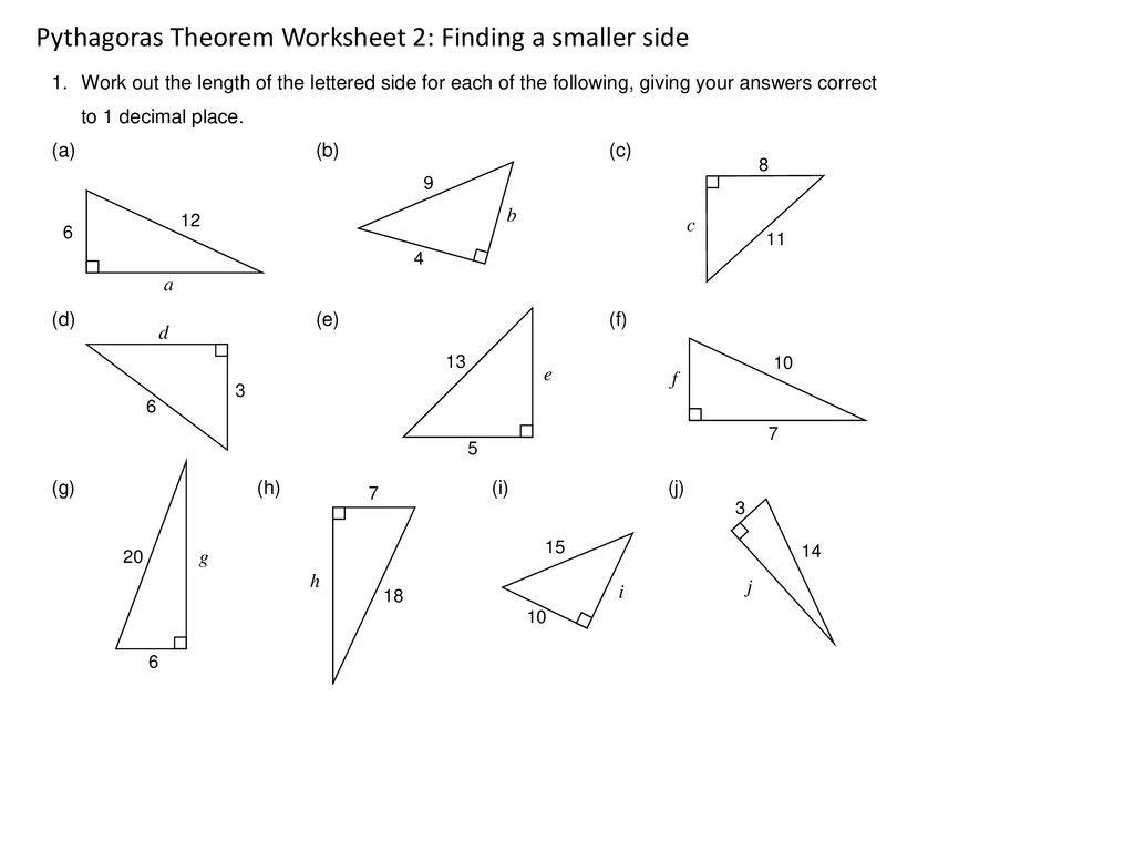 30 The Pythagorean Theorem Worksheet