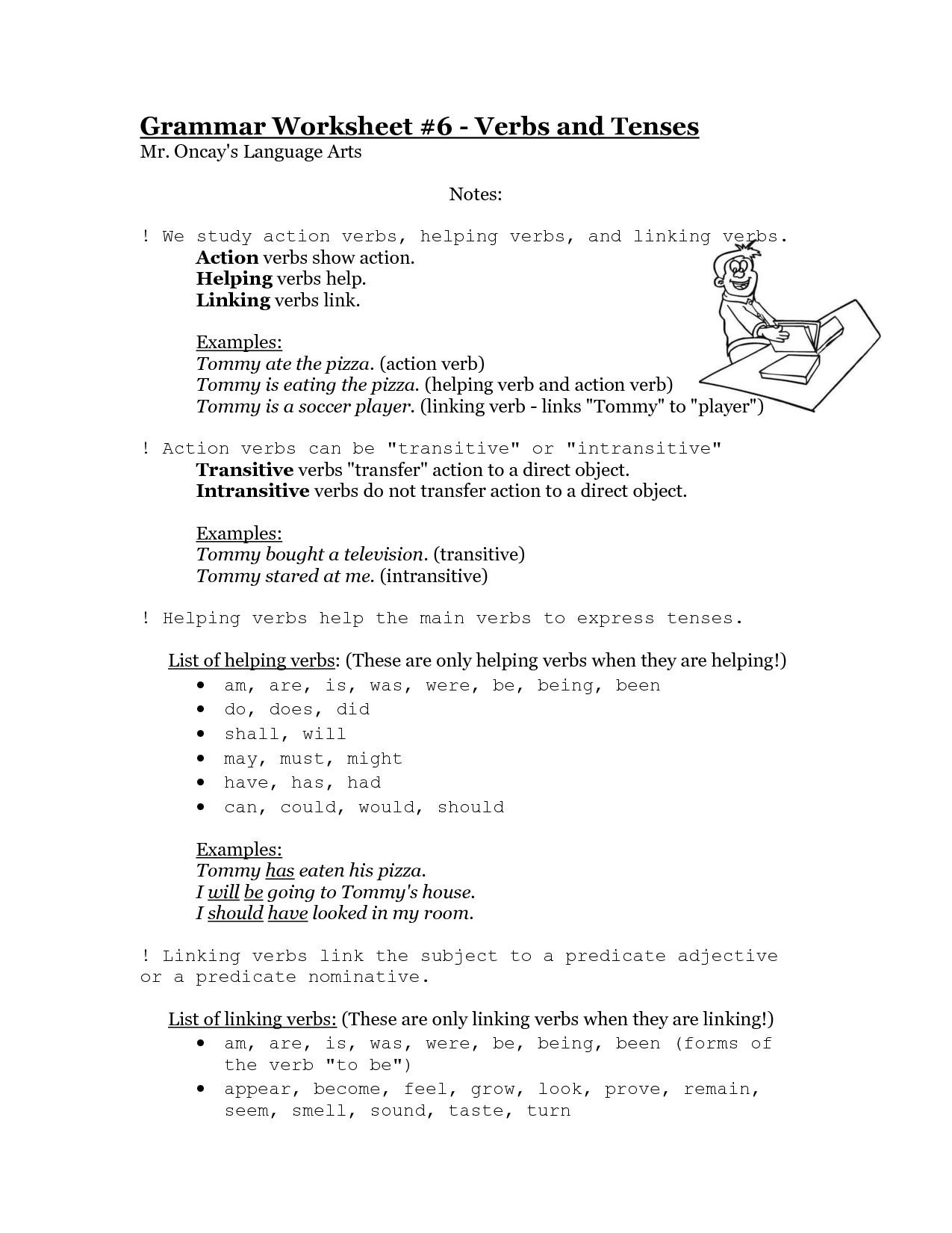 30 Transitive And Intransitive Verbs Worksheet